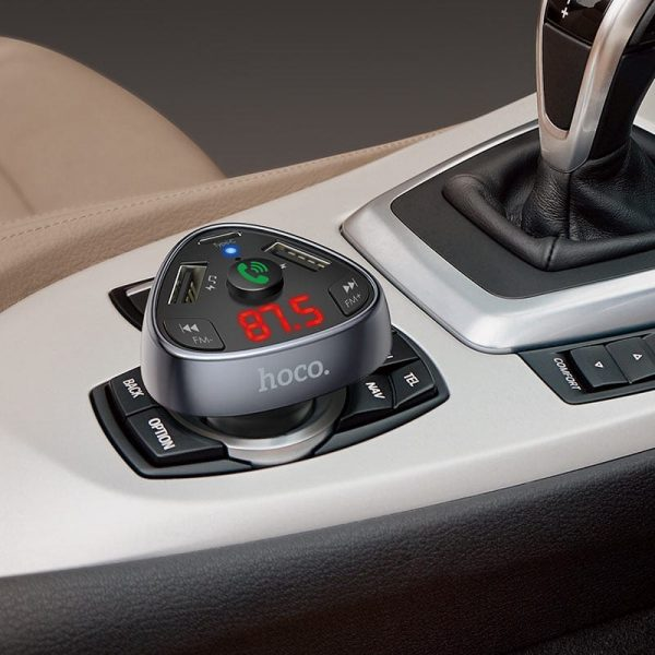 Автомобильное зарядное FM-трансмиттер Hoco E51