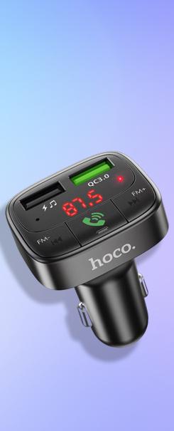 Автомобильное зарядное FM-трансмиттер Hoco E59