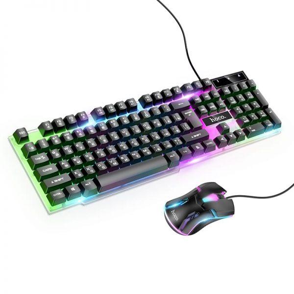 Игровая светящаяся клавиатура+мышь Hoco GM11